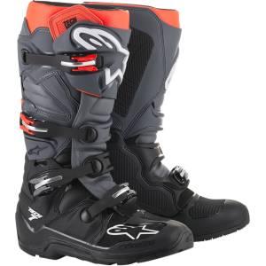Alpinestars Tech 7 Black Grey Red Fluo Enduro Boots