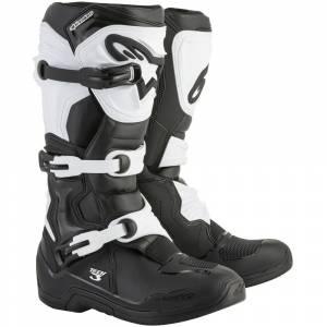 Alpinestars Tech 3 Black White Motocross Boots