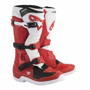 Alpinestars Tech 3 Red White Motocross Boots