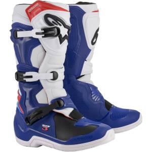 Alpinestars Tech 3 Blue White Red Motocross Boots