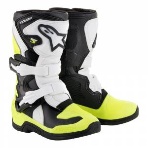 Alpinestars Kids Tech 3S Black White Yellow Fluo Motocross Boots