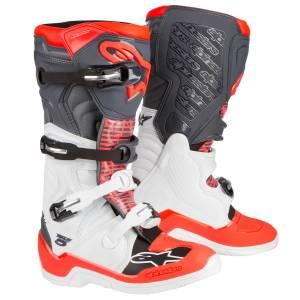 Alpinestars Tech 5 White Grey Red Fluo Motocross Boots