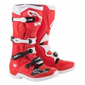 Alpinestars Tech 5 Red White Motocross Boots