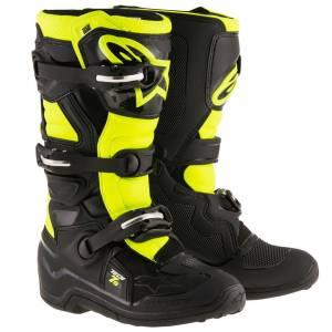 Alpinestars Kids Tech 7S Black Yellow Fluo Motocross Boots