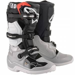 Alpinestars Kids Tech 7S Black Silver White Gold Motocross Boots