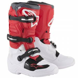 Alpinestars Kids Tech 7S White Red Grey Motocross Boots