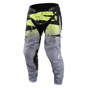 Troy Lee Designs GP Brushed Black Glo Green Motocross Pants