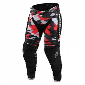 Troy Lee Designs GP Formula Camo Black Rocket Red Motocross Pants