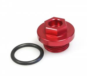 MDR Oil Filler Plug CR125/250/500 CRF450 KX60/65/80/85/125/500 RM60/65 YZ80/85/125 YZF250/450 Red