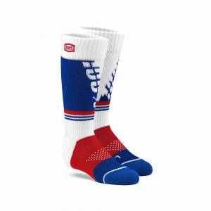 100% Kids Torque White Moto Socks