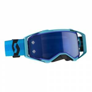Scott Prospect Blue Black Blue Chrome Lens Motocross Goggles