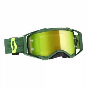 Scott Prospect Green Yellow Yellow Chrome Lens Motocross Goggles