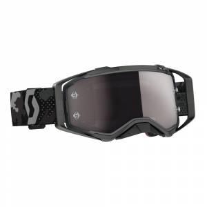 Scott Prospect Dark Grey Black Silver Chrome Lens Motocross Goggles