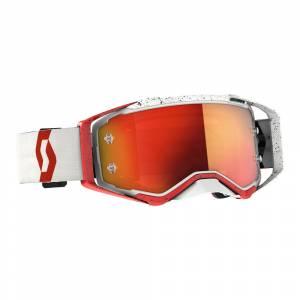 Scott Prospect Red White Orange Chrome Lens Motocross Goggles