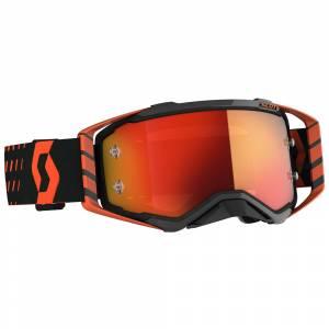 Scott Prospect Orange Black Orange Chrome Lens Motocross Goggles