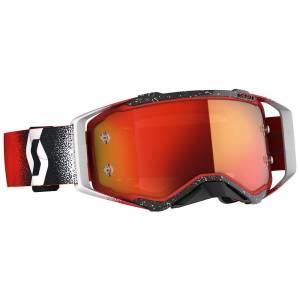 Scott Prospect White Red Orange Chrome Lens Motocross Goggles