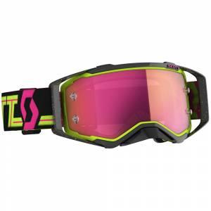 Scott Prospect Black Yellow Pink Chrome Lens Motocross Goggles