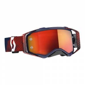 Scott Prospect Red Blue Orange Chrome Lens Motocross Goggles