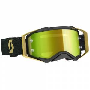 Scott Prospect Black Gold Yellow Chrome Lens Motocross Goggles
