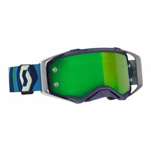 Scott Prospect Blue Green Green Chrome Lens Motocross Goggles