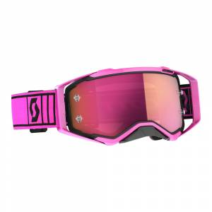 Scott Prospect Pink Black Pink Chrome Lens Motocross Goggles