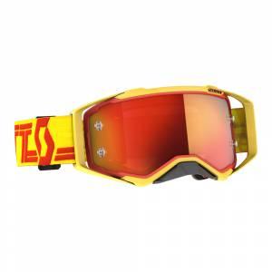 Scott Prospect Yellow Red Orange Chrome Lens Motocross Goggles