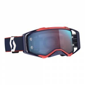 Scott Prospect Retro Blue Red Blue Chrome Lens Motocross Goggles