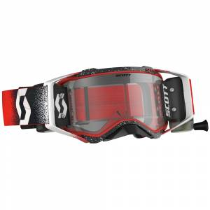 Scott Prospect White Red Clear Lens WFS Goggles