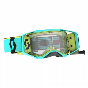 Scott Prospect Teal Blue Yellow Clear Lens WFS Goggles
