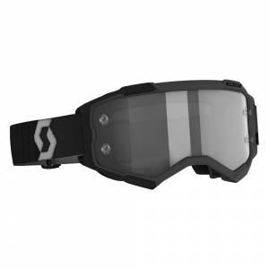 Scott Fury Black Grey Light Sensitive Grey Lens Motocross Goggles