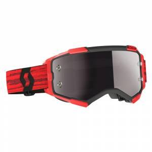 Scott Fury Dark Red Silver Chrome Lens Motocross Goggles