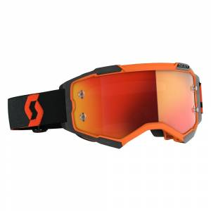 Scott Fury Orange Black Orange Chrome Lens Motocross Goggles