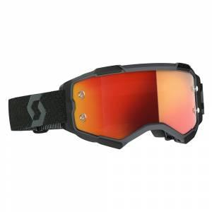 Scott Fury Black Orange Chrome Lens Motocross Goggles