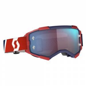 Scott Fury Red Blue Blue Chrome Lens Motocross Goggles