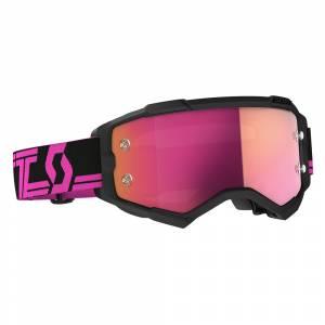 Scott Fury Pink Black Pink Chrome Lens Motocross Goggles