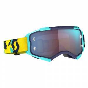 Scott Fury Blue Orange Blue Chrome Lens Motocross Goggles