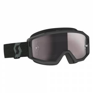 Scott Primal Black Silver Chrome Lens Motocross Goggles