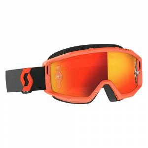 Scott Primal Orange Black Orange Chrome Lens Motocross Goggles