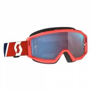 Scott Primal Red Blue Blue Chrome Lens Motocross Goggles