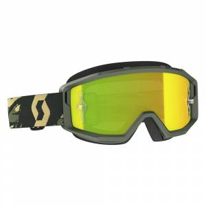 Scott Primal Camo Kaki Yellow Chrome Lens Motocross Goggles