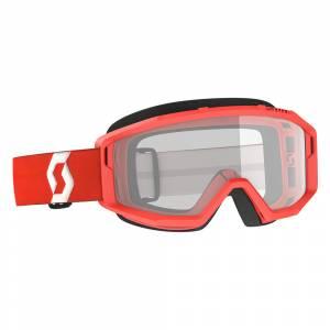 Scott Primal Red Clear Lens Motocross Goggles