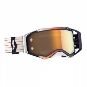 Scott Prospect Amplifier Blue White Gold Chrome Lens Motocross Goggles