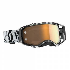 Scott Prospect Camo Grey Silver Chrome Lens Motocross Goggles