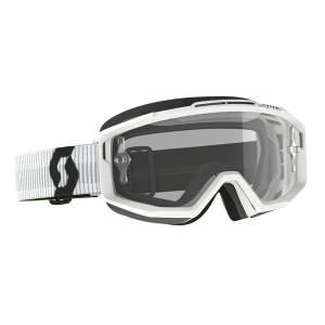 Scott Split White Clear Lens OTG Motocross Goggles