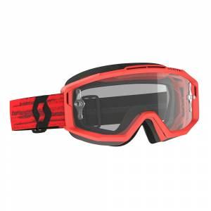 Scott Split Dark Red Clear Lens OTG Motocross Goggles