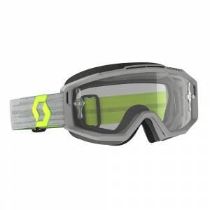 Scott Split Grey Yellow Clear Lens OTG Motocross Goggles