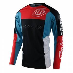 Troy Lee Designs SE Pro Quattro Navy Red Motocross Jersey