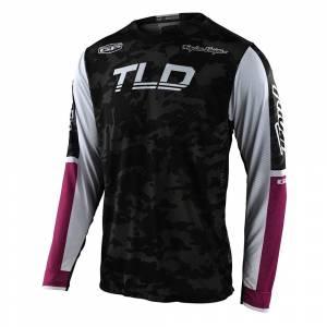 Troy Lee Designs GP Air Veloce Camo Black Glo Green Motocross Jersey
