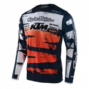 Troy Lee Designs GP Brushed Team Navy Orange Motocross Jersey