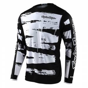 Troy Lee Designs GP Brushed Black White Motocross Jersey